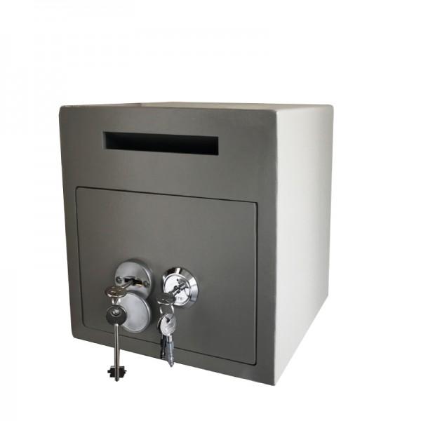 Einwurftresor mit 4 Augen Prinzip Öffnung | Deposittresor | Sicherheitsstufe A | 2 Schlösser
