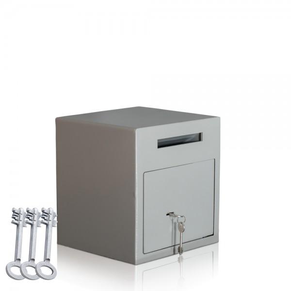 Einwurftresor mit-3-Schlüsseln-Briefkasten-Safe-Deposit-Tresor-GASTRO