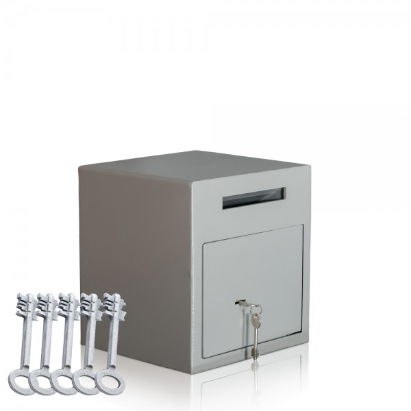 Einwurftresor-mit-5-Schlüsseln-Abwurfsafe-mit-Schlitz-Schlüsselschloss