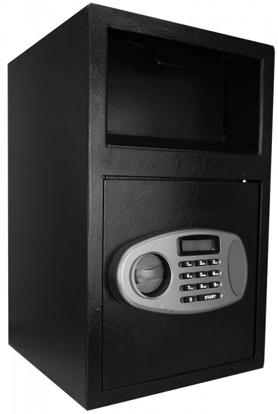 Einwurftresor mit Einwurfklappe | Sicherheitsstufe A | Elektronik Schloss