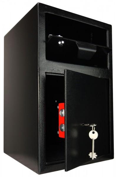 Einwurftresor | abschließbare Einwurfklappe | Deposittresor | Schlüsselschloss
