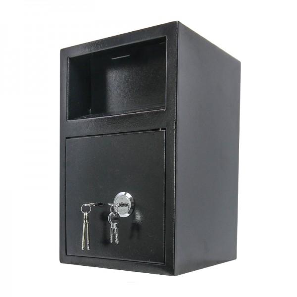 Einwurftresor mit Einwurfklappe | 4 Augen Prinzip | Deposittresor | Sicherheitsstufe A | 2 Schlösser